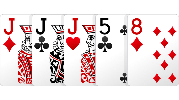 three of a kind - Cara Bermain Poker Online