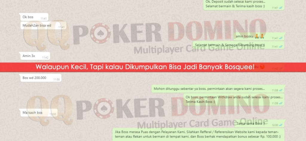 Bukti Kremenangan player QQ Poker Domino